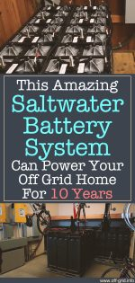 This Amazing Saltwater Battery System Can Power Your Off Grid Home For 10 Years!