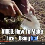 VIDEO: How To Make Fire… Using Ice!