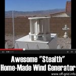 "Awesome ""Stealth"" Home-Made Wind Generator"