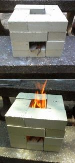 How To Build A 16 Brick Rocket Stove For 6 Dollars!