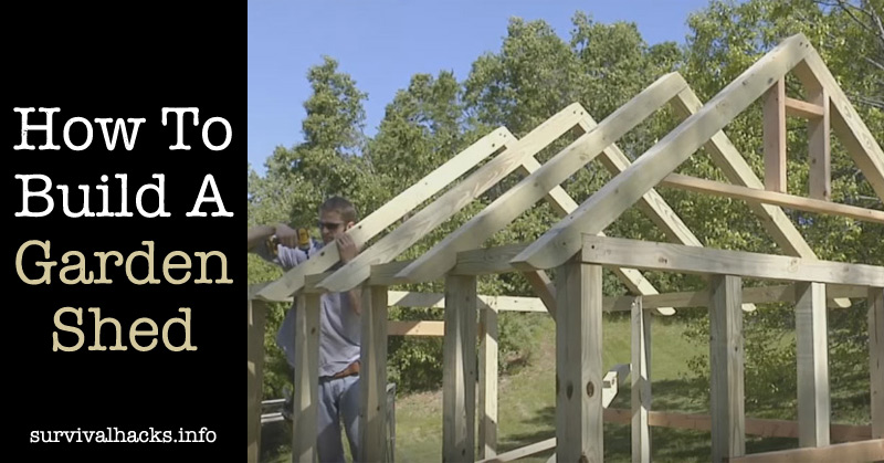 How To Build A Garden Shed Roof Framing Off Grid