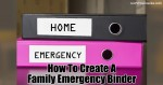How To Create A Family Emergency Binder