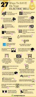 27 Ways To Save On Your Electric Bill