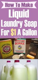 How To Make Liquid Laundry Soap For $1 A Gallon